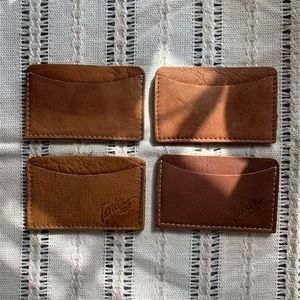 Handmade vintage leather card wallet